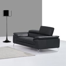 Italian Leather Loveseat
