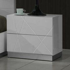 Naples 2 Drawer Nightstand