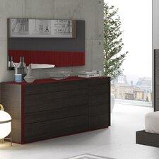 Lagos 4 Drawer Dresser with Mirror