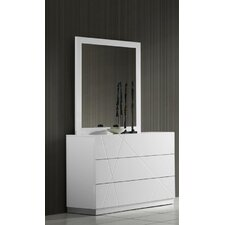 Naples 6 Drawer Dresser with Mirror