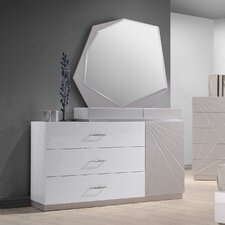 Ernesto 3 Drawer Dresser with Mirror