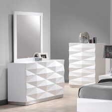 Verona 6 Drawer Dresser with Mirror