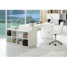Modern Office Desk with Hutch