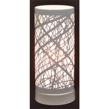 Birch Table Lamp with Drum Shade