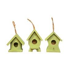 3 Piece Cottage Hanging Birdhouse Set