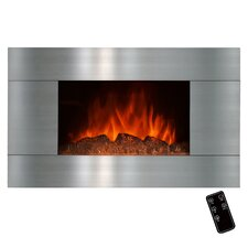 Stainless Steel Wall Mount Electric Fireplace