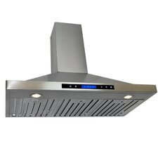 "35.4"" 400 CFM Convertible Wall Mount Range Hood"