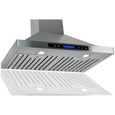 "29.5"" 400 CFM Convertible Wall Mount Range Hood"