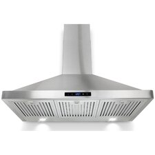 "35"" 400 CFM Convertible Wall Mount Range Hood"