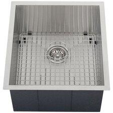 "Ticor 18-1/2"" X 20-1/2"" Inch Zero Radius 16 Gauge Stainless Steel Single Bowl Square Undermount Kitchen Sink"