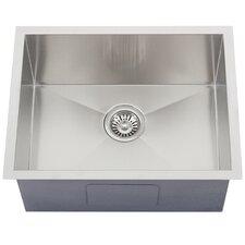 "Ticor 22-1/2"" X 17-1/2"" Inch Zero Radius 16 Gauge Stainless Steel Single Bowl Square Undermount Kitchen Sink"