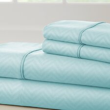 Becky Cameron 1800 Thread Count Chevron Sheet Set