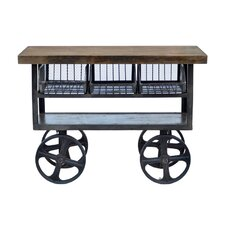 Industrial Kitchen Cart with Mango Top