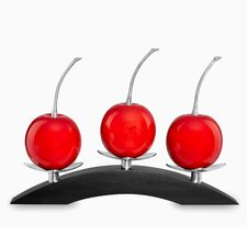 Artesana Medium 3 Cherry on Triple Bridge Sculpture