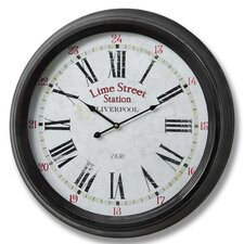 Oversized 62cm Lime Street Liverpool Wall Clock