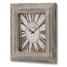 Rechteckige Uhr aus Holz