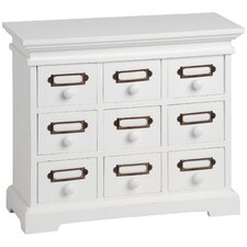 Small 9 Drawer Desktop Chest