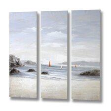 Beachfront 3 Piece Art Print on Canvas Set