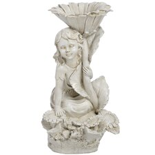 Seated Fairy Ornament Bird Bath