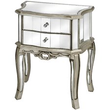 Argente 2 Drawer Bedside Table