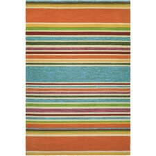 Covington Handmade Sherbet Stripe Multi Indoor/Outdoor Area Rug