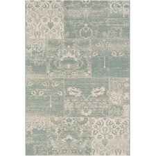 Afuera Country Cottage Sea Mist/Ivory Indoor/Outdoor Area Rug