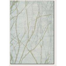 Moonwalk Manzanita Branch Ice Blue/Silver Area Rug