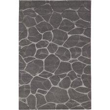 Impressions Grey/Silver Flagstone Area Rug