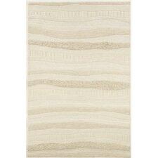 Super Indo-Natural Impressions White Stripe Area Rug
