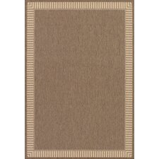Recife Wicker Stitch Cocoa/Natural Indoor/Outdoor Area Rug
