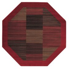 Everest Hamptons Red Octagon Area Rug