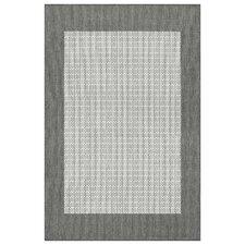 Recife Checkered Field Grey/White Indoor/Outdoor Area Rug