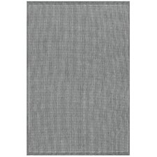 Recife Saddle Stitch Grey & White Indoor/Outdoor Area Rug