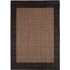 Recife Checkered Field Black Cocoa/Dark Brown Indoor/Outdoor Area Rug