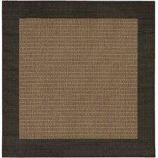 Recife Checkered Field Cocoa/Black Indoor/Outdoor Area Rug
