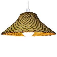 37 cm Lampenschirm aus Korbgeflecht