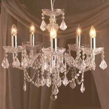 Strauss 5 Light Crystal Chandelier