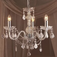 Strauss 3 Light Crystal Chandelier