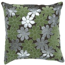 April Natural Throw Pillow