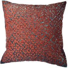 Azure Velvet Throw Pillow