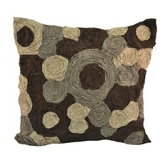 Rouched Circles Throw Pillow