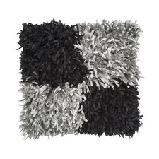 Metallic Shaggy Throw Pillow