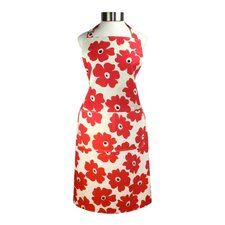 "MUincotton 27"" x 35"" Full Apron in Red Poppy"