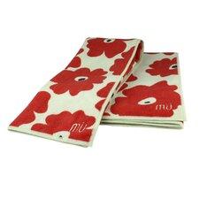Poppy 2 Piece Dishcloth and Towel Set