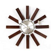 "13.5"" Wood Spokes Wall Clock"
