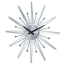 "19.38"" George Nelson Mirrored Starburst Wall Clock"