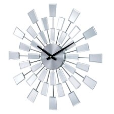 "19.38"" Mirrored Pixels Wall Clock"