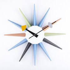 "13.5"" Sunburst Metal Boutique Wall Clock"