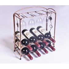 Collapsible 8 Bottle Tabletop Wine Rack