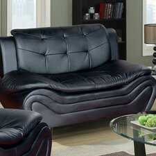 Linda Leather Loveseat